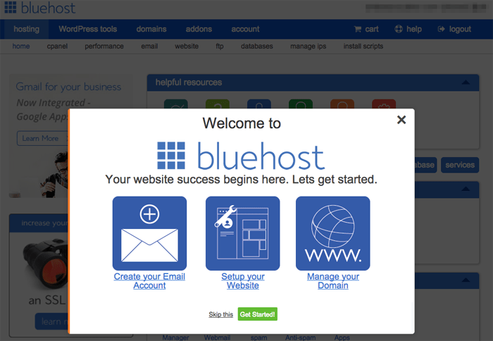Bluehost Step 9