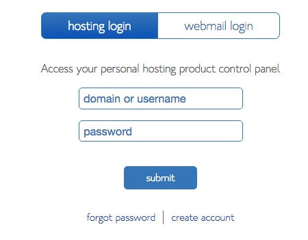bluehost step 16