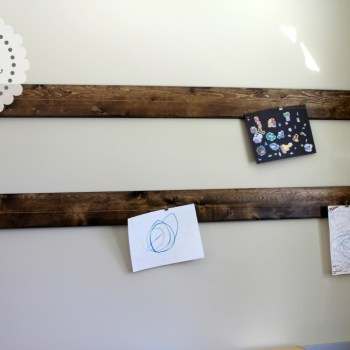 DIY Art Display Hanger | making it in the mountains