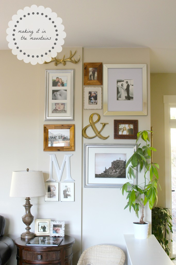 DIY Gallery Wall Tutorial @ making it in the mountains