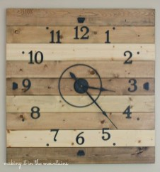 DIY Wood Plank Clock :: making it in the mountains