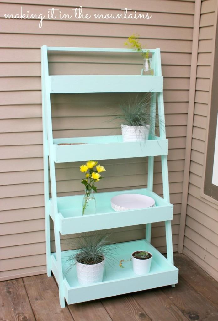 Diy Ladder Shelf Making It In The Mountains