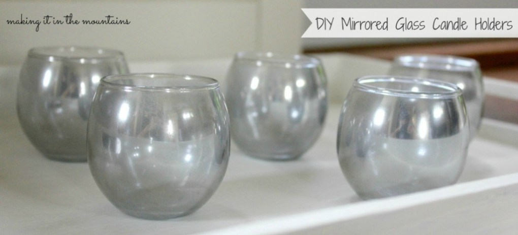 DIY Mirrored Glass Tea Light Holders