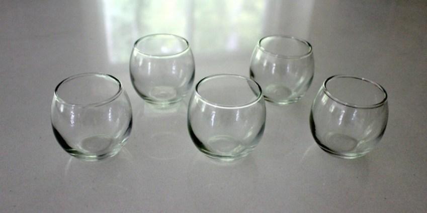 DIY Mirrored Glass Tea-Light Holders