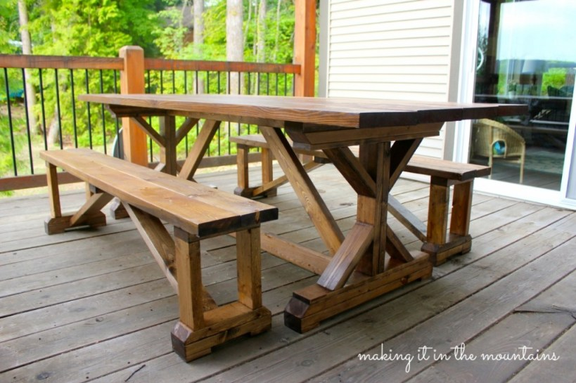 outdoor makeover challenge week 2 diy pottery barn table knockoff