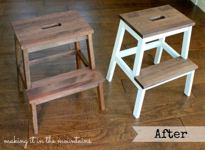 After - Ikea Stool Makeover @ making it in the mountains