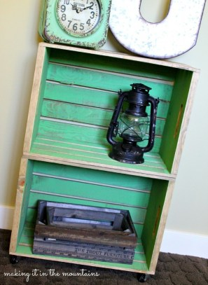 Wooden Crate Bedside Table :: making it in the mountains