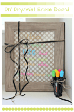DIY Dry/Wet Erase Board