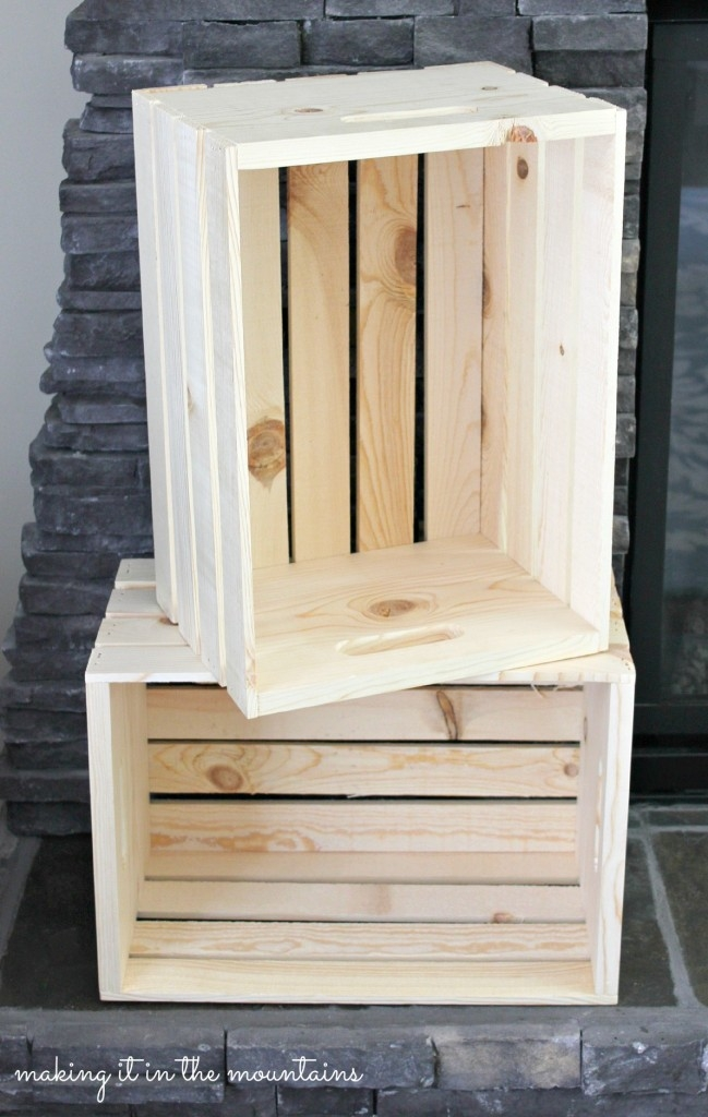 Captivating Wooden Crate Bedside Table :: Making It In The Mountains