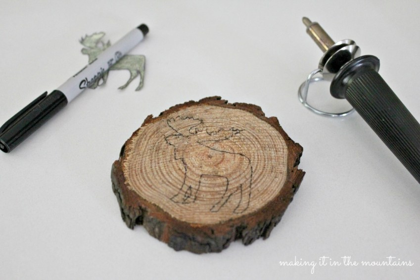 2DIY Rustic Coasters  making it in the mountains