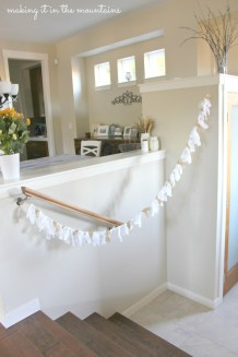 Burlap & Lace Garland :: making it in the mountains