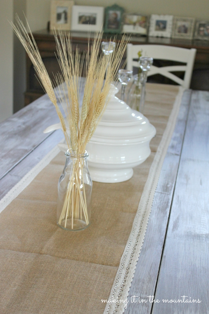 burlap u0026 lace table runner making it in the mountains