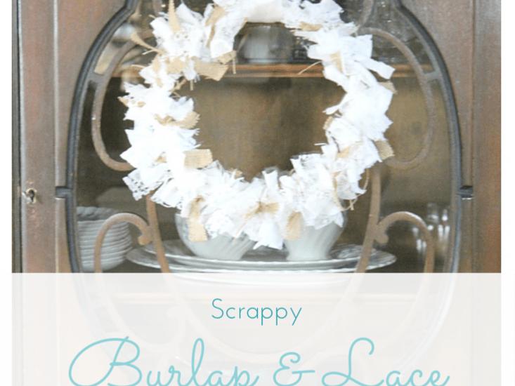 Scrappy Burlap & Lace Wreath :: making it in the mountains #burlap #lace #falldecor #wreath