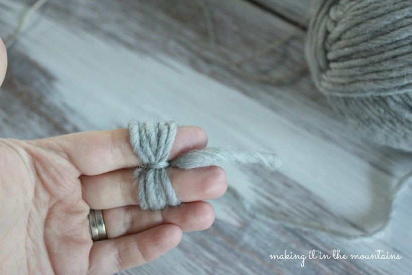 Rustic Christmas Tree Garland - making it in the mountains