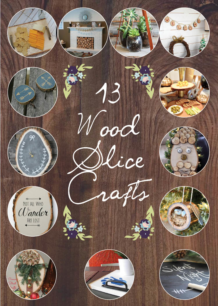 13 Wood Slice Crafts :: making it in the mountains