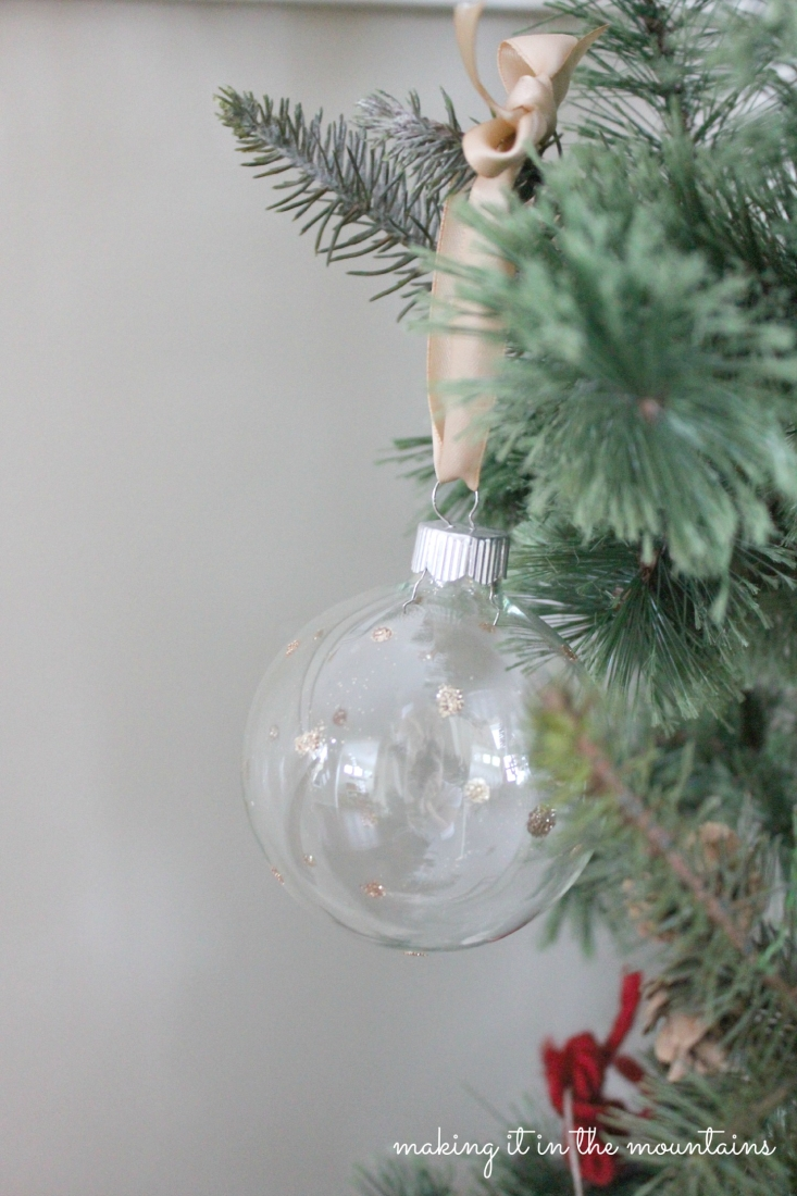 Handmade glass christmas ornaments - Handmade Glittery Clear Glass Ornaments Making It In The Mountains