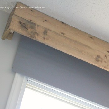 One Room Challenge: DIY Valance