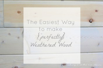 10 The Easiest Way to Weather Wood making it in the mountains