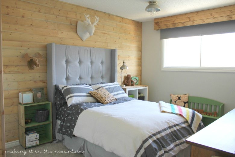 One Room Challenge: Rustic Boy's Bedroom | making it in the mountains