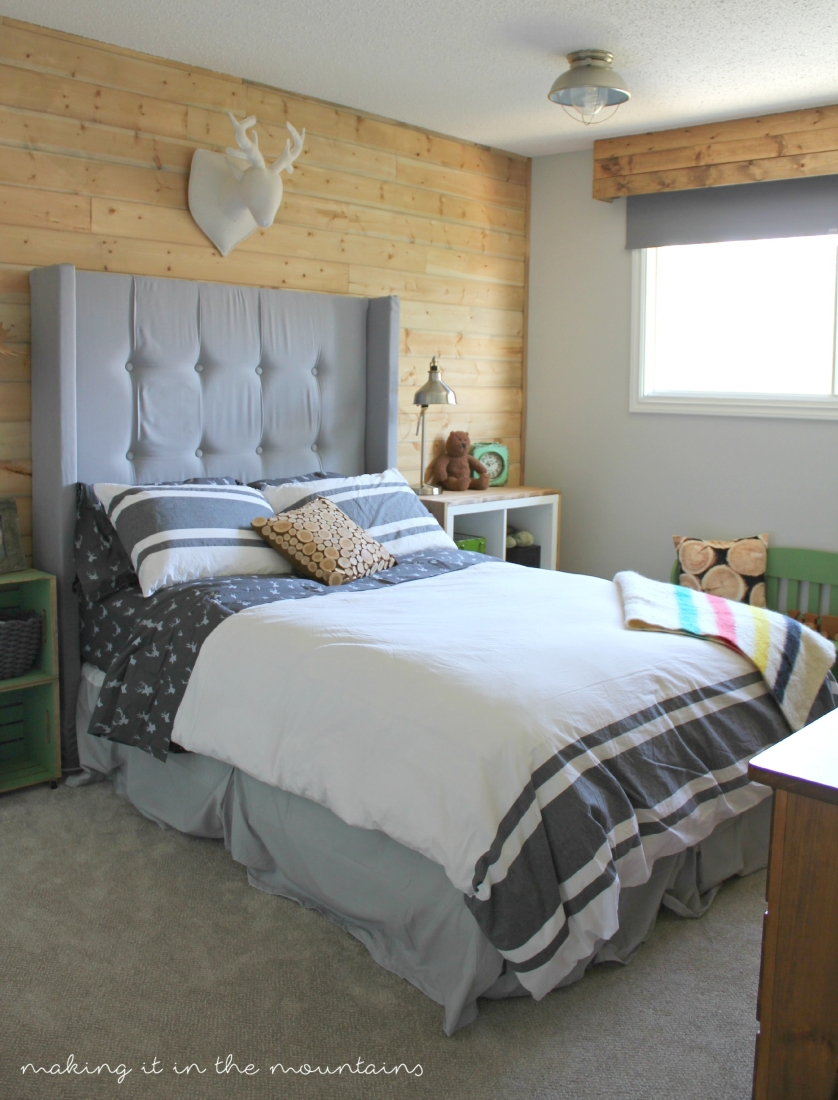 One Room Challenge: Rustic Boy's Bedroom   making it in the mountains