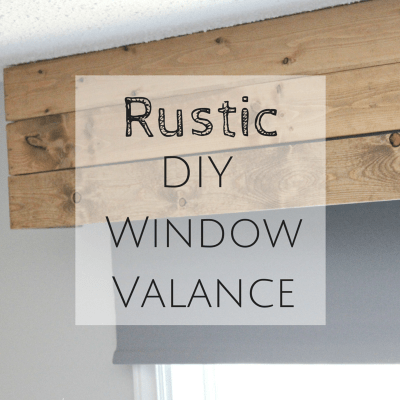 Rustic DIY Window Valance