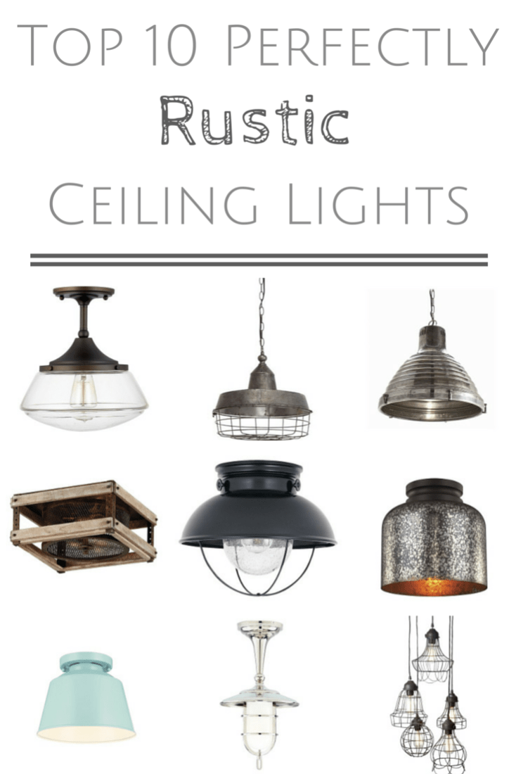 Let there be light 10 perfectly rustic ceiling lights making it if youre looking for the perfect rustic ceiling light for your space i mozeypictures Images