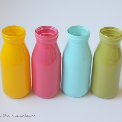 Bright & Cheery Spring Milk Bottle Vases
