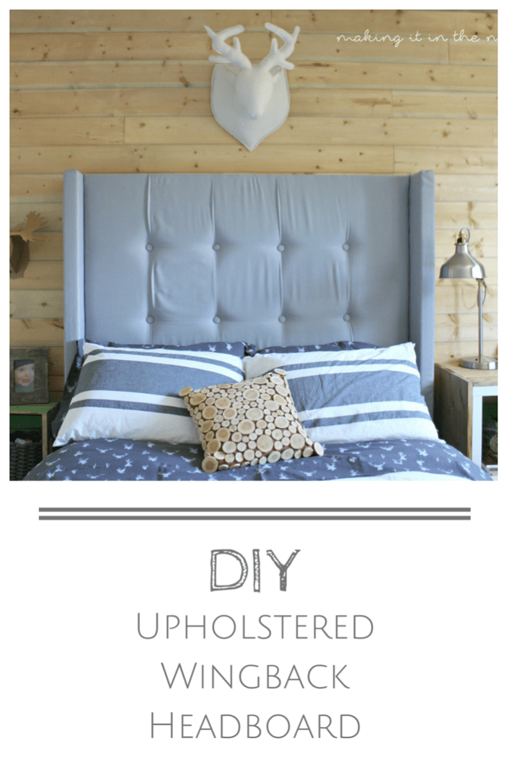 DIY Upholstered Wingback Headboard LOVE that classic look of an upholstered headboard  but not crazy about the  price