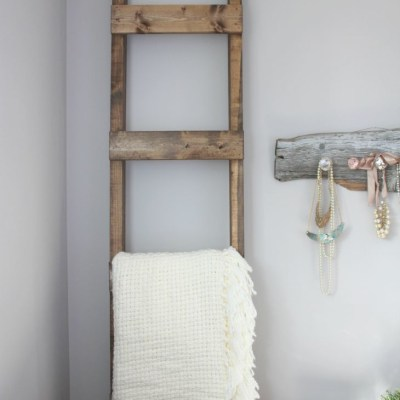 The Easiest Ever DIY Blanket Ladder {A Guest Post for AKA Design}