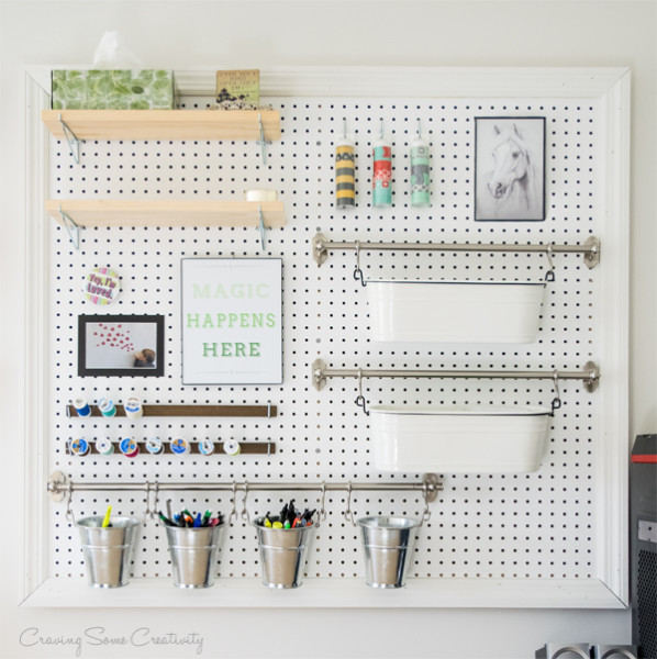 How to Build a Peg Board Organizer