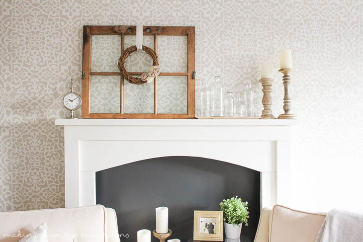DIY Faux Fireplace {A Guest Post for AKA Design} - Making it in the Mountains