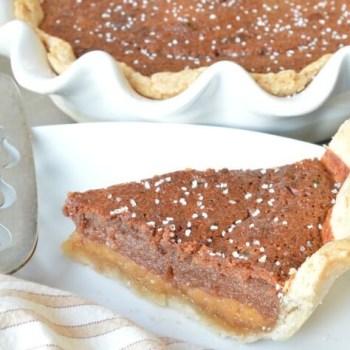 Chocolate Salted Honey Pie