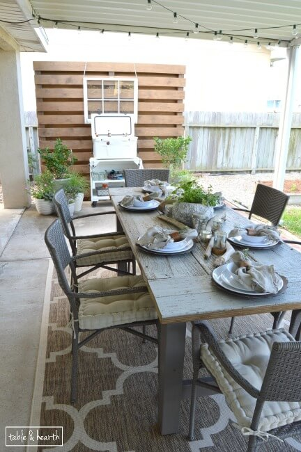 Rustic Patio Makeover
