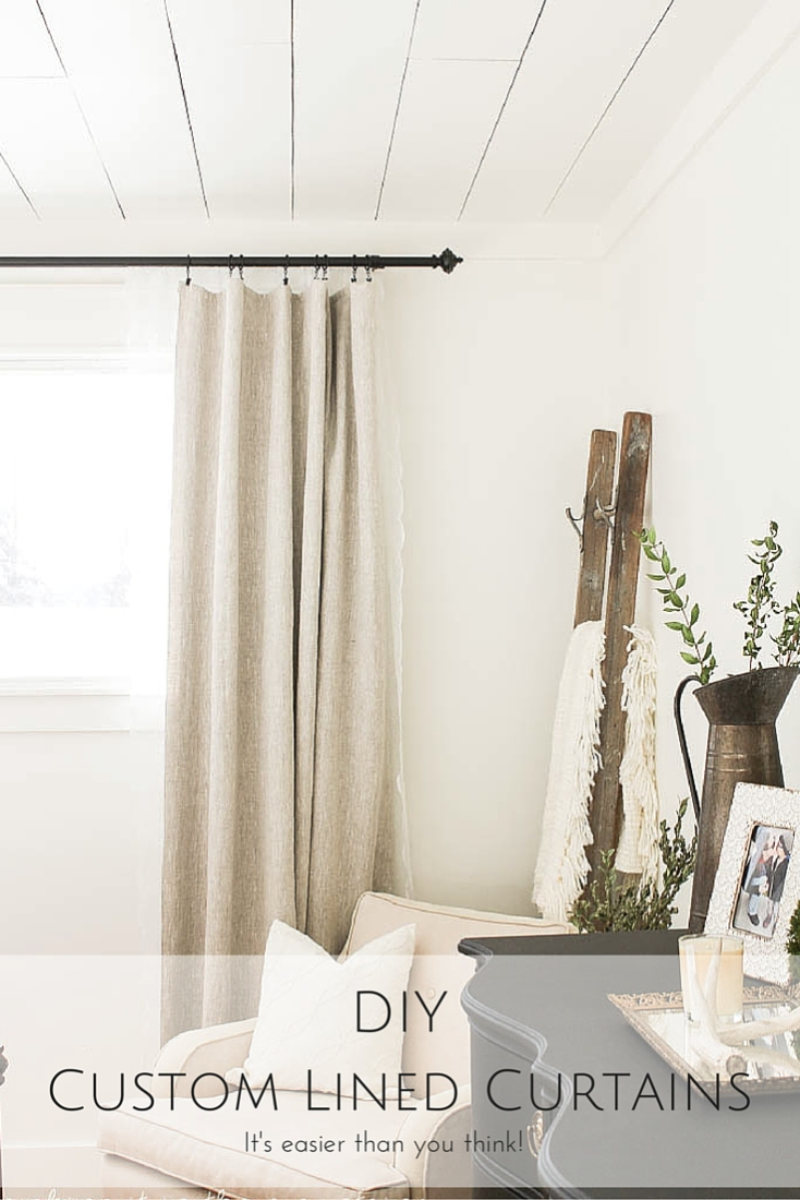 Who knew it could be so easy to have your own custom curtains?! With the perfect fabric, just the right dimensions and even the amount of black out – there's nothing more perfect than custom! You won't believe how easily you can make your very own DIY custom lined curtains!