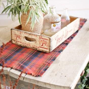 Fall Flannel Table Runner