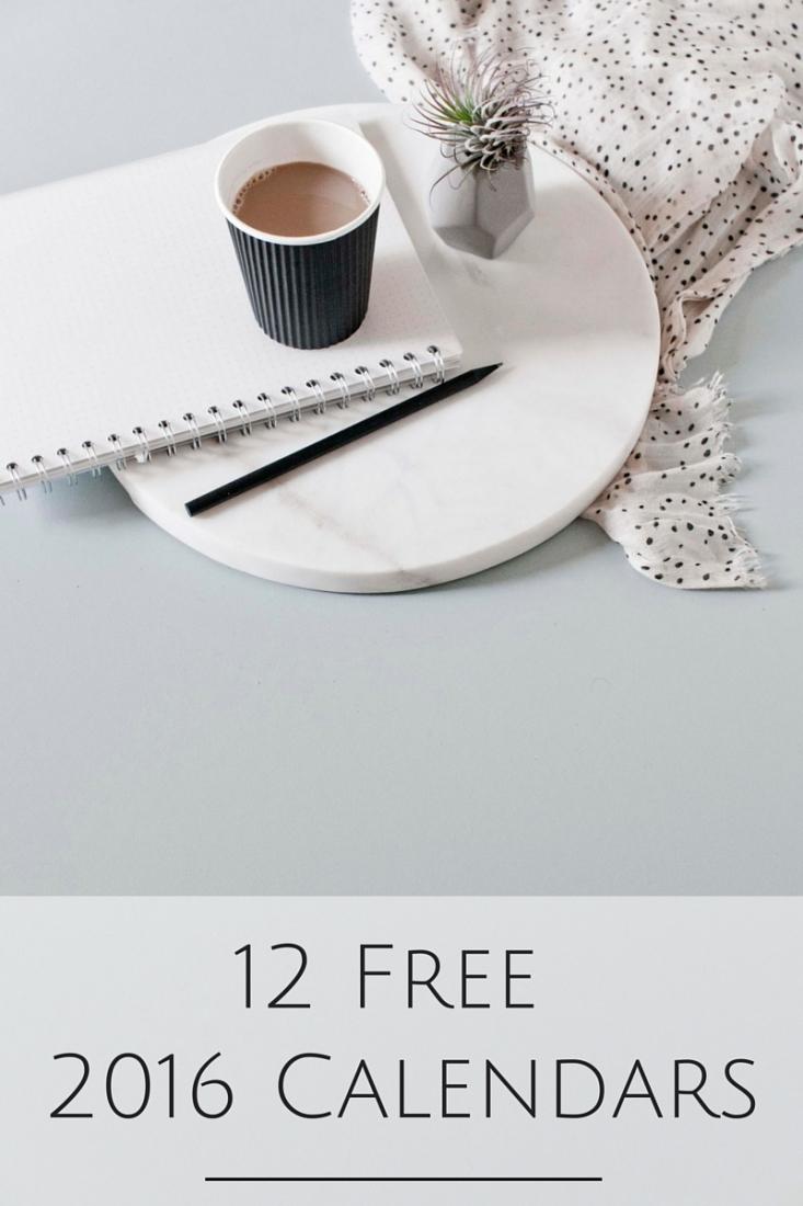 12 FREE Calendars to help you get organized for 2016! www.makingitinthemountains.com