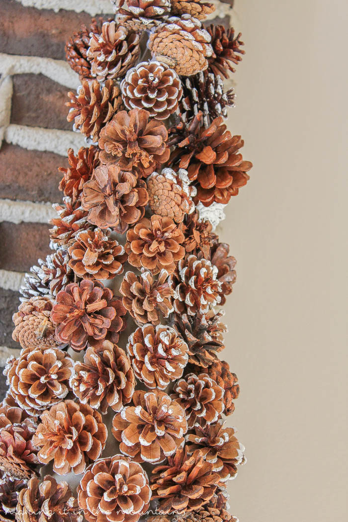 this diy pinecone christmas tree is not only super easy to make but with its