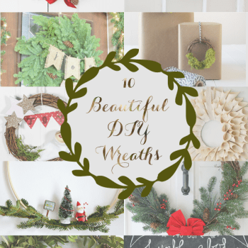 10 Beautiful DIY Christmas Wreaths just in time for the holidays!