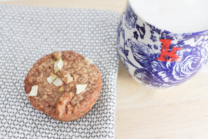 These simple little baked oatmeal cups are the perfect way to enjoy a healthy breakfast on the go!