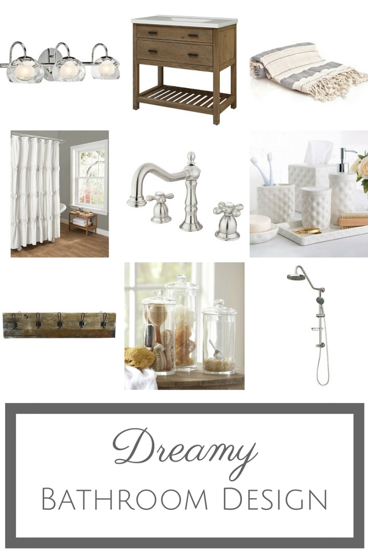 This light, bright and airy bathroom design is sure to have you dreaming of a new bathroom!