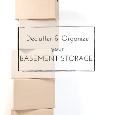 Decluttering and Organizing Basement Storage: Continuing Along with our Journey to {Sparking Joy}
