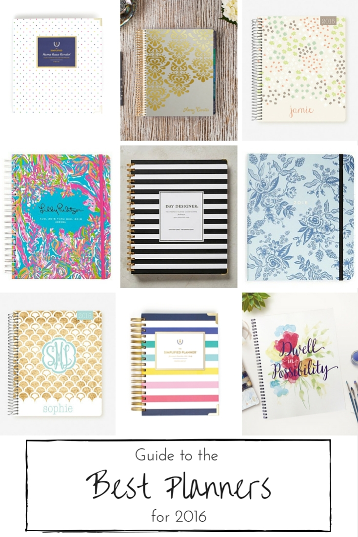 Are you looking to live a more organized life this year? Don't miss this guide to 12 of the very best planners for 2016 to help you manage the chaos with a clear head and a happy heart!