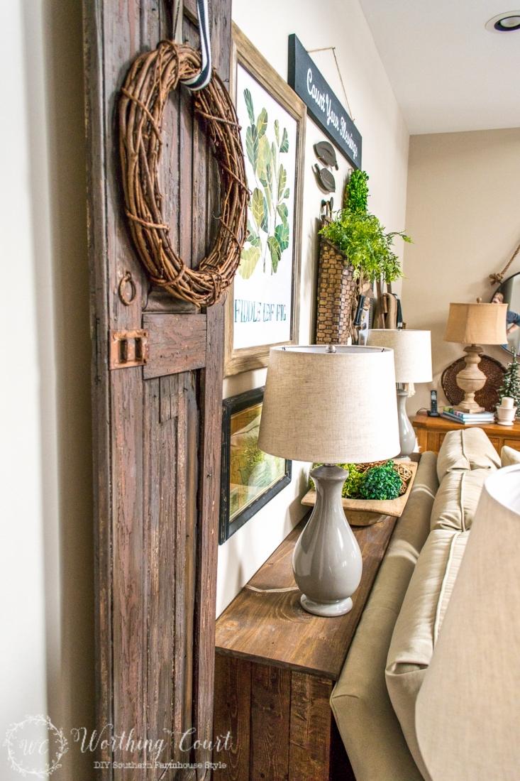 DIY Rustic Sofa Table