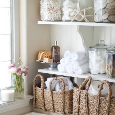 12 Pretty Linen Storage Ideas when you Don't have a Linen Closet