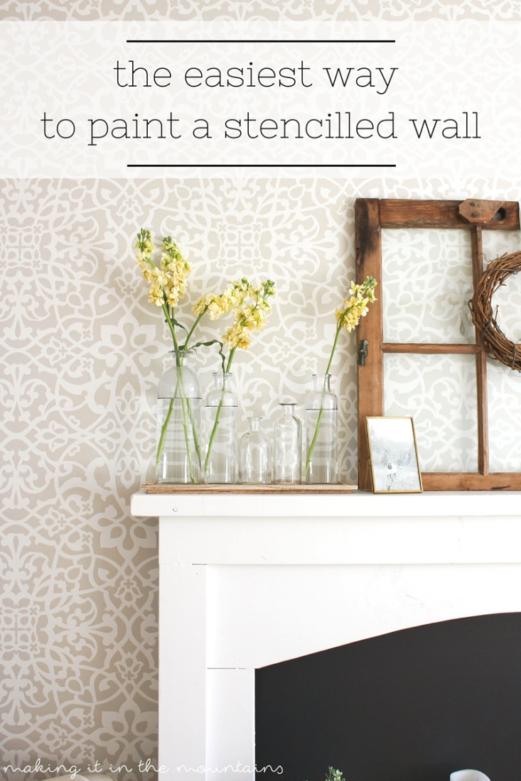 Have you been dying to try painting a stencilled wall, but it just seems like SO much work? You won't believe how quick and easy it really is!!!