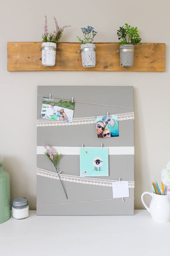 Canvas Memory Board | www.makingitinthemountains.com