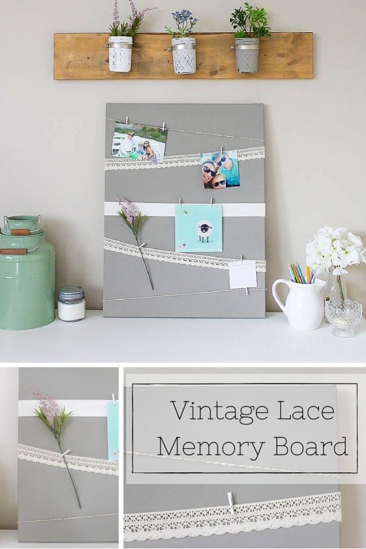 Canvas Memory Board | www.makingitinthemountains.com