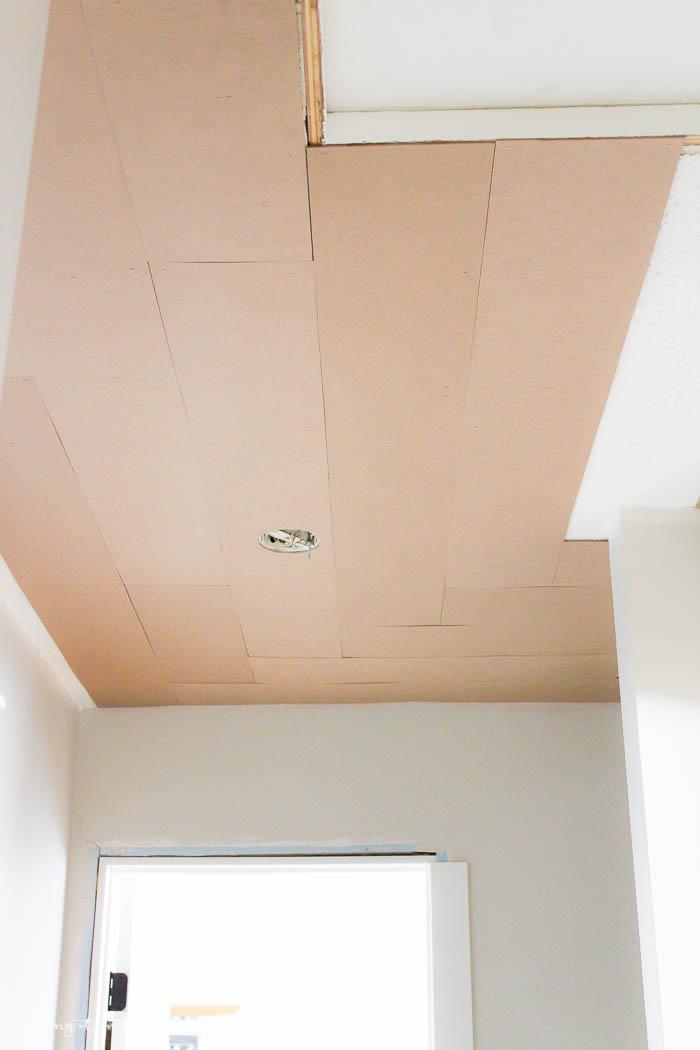 Wonderful DIY Planked Ceiling | Www.makingitinthemountains.com