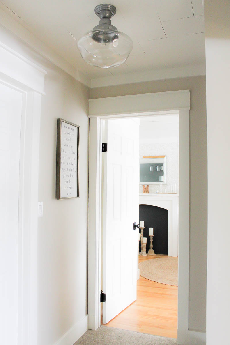 A farmhouse style hallway makeover making it in the - What is farmhouse style ...