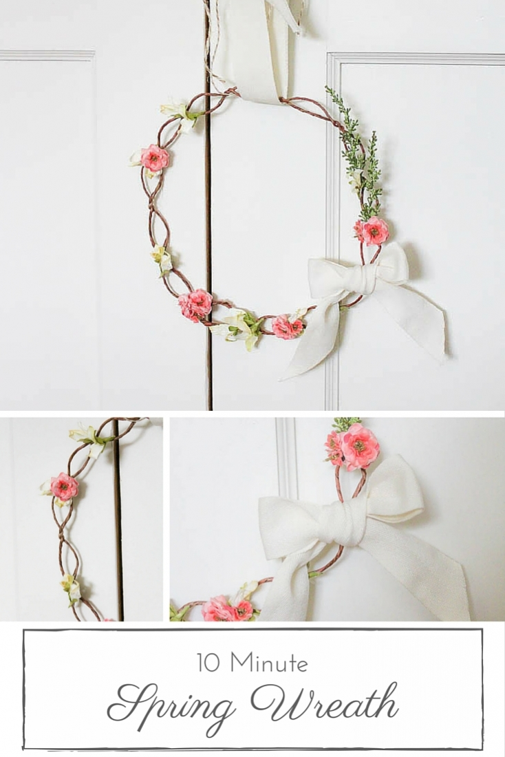 This delicate & simple Spring wreath is such a lovely way to bring a little colour and life to any Spring decor!   www.makingitinthemountains.com
